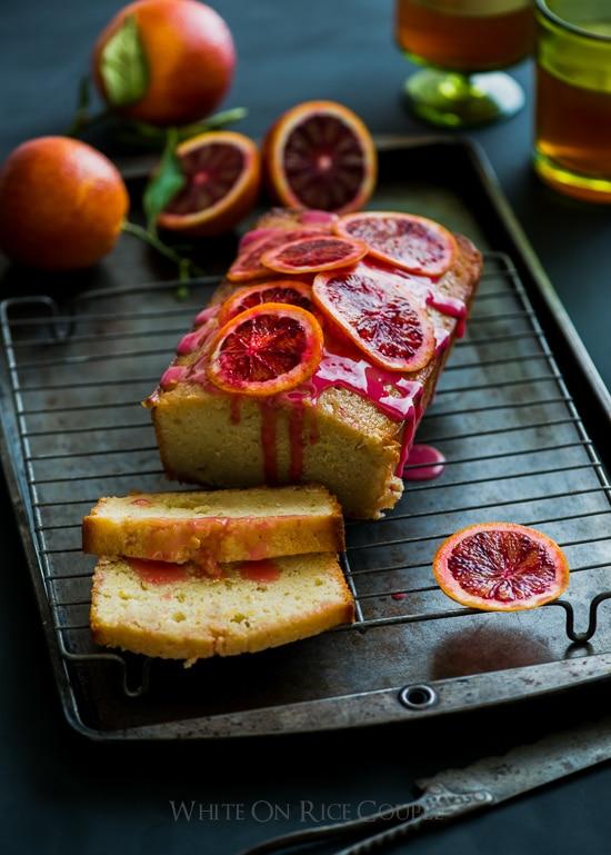 Blood Orange Buttermilk Pound Cake Recipe   @WhiteOnRice