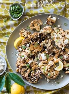 Grilled Cauliflower Steaks Recipe BBQ Cauliflower Recipe | @whiteonrice