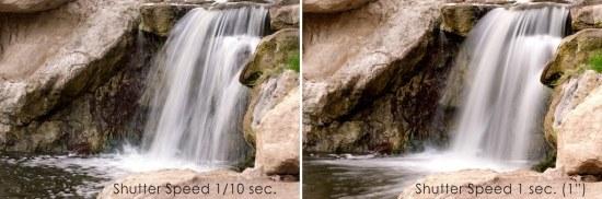 photograph of freezing waterfall