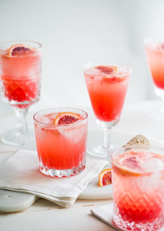 Refreshing Blood Orange Gin and Tonic Recipe on WhiteOnRiceCouple.com | @whiteonrice