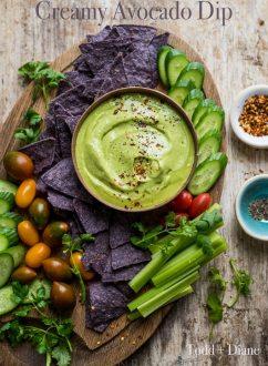 Creamy Avocado Dip and Avocado Dressing Recipe   @whiteonrice