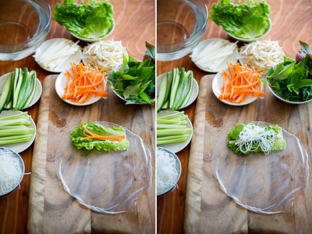 how to use rice paper for spring rolls