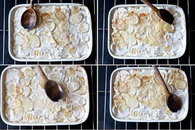 Creamy Potatoes au Gratin or Scalloped Potatoes Au Gratin that's tender and delicious | @whiteonrice