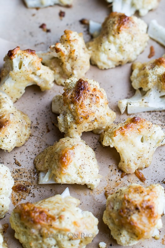 "Roasted Cauliflower with Cheese ""Frosted Cauliflower"" Recipe 