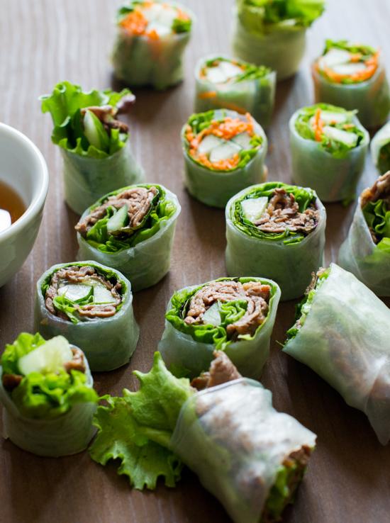 Fresh Rice Paper Rolls or Fresh Spring Rolls Recipes | @whiteonrice