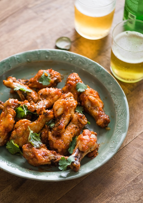 Amazing Sticky Sriracha Chicken Wings for Game Day and Every Day. | @whiteonrice