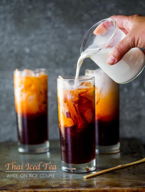 Easy Thai Tea Recipe (Thai Iced Tea) from White On Rice Couple   @whiteonrice