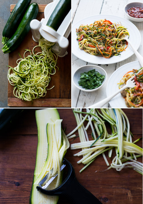 Healthy Zucchini Noodle Chow Mein Recipe- Easy Chinese Chow Mein that's healthier from @whiteonrice on whiteonricecouple.com