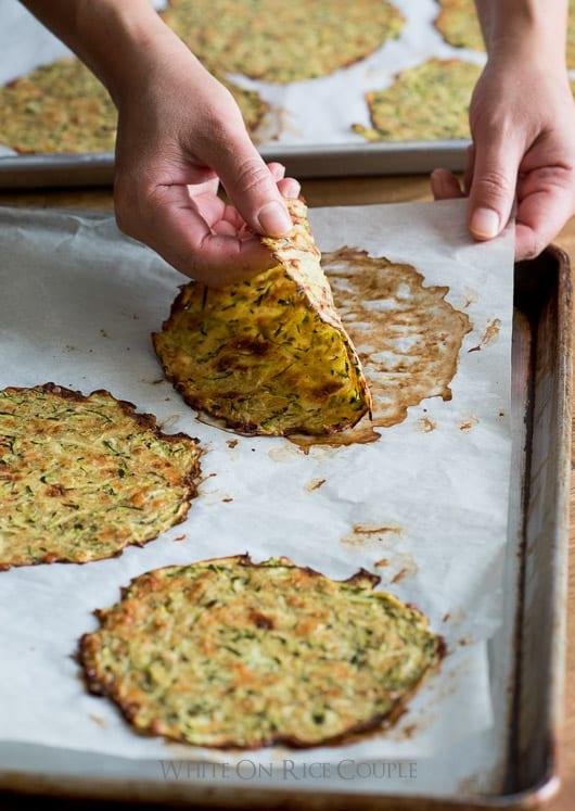 Healthy Zucchini Tortillas Recipe or Zucchini Soft Taco Shells Recipe   @whiteonrice