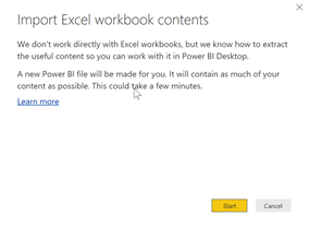 Excel files contents warning dialog