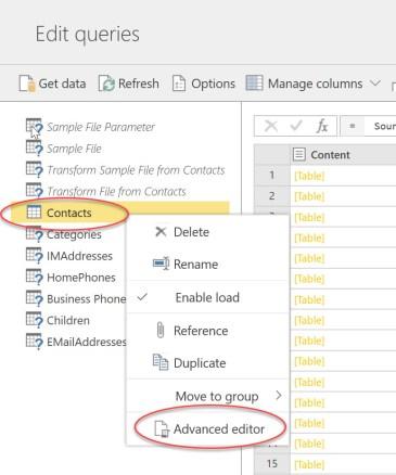 Advanced Editor in dataflow editor