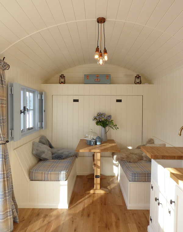 Inside a Holiday hut