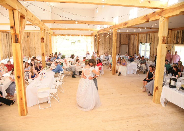 Plenty of room for the wedding dances in the great room at White Pine Grove.