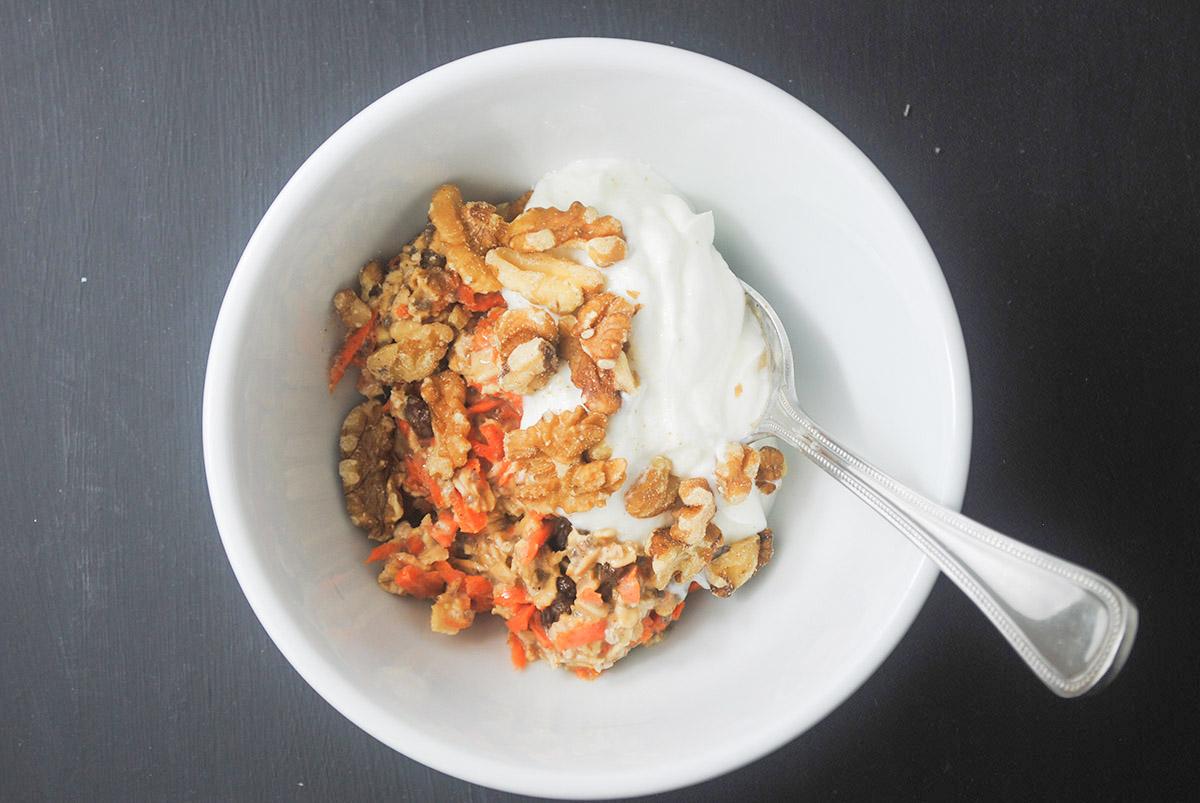 carrot cake overnight oats