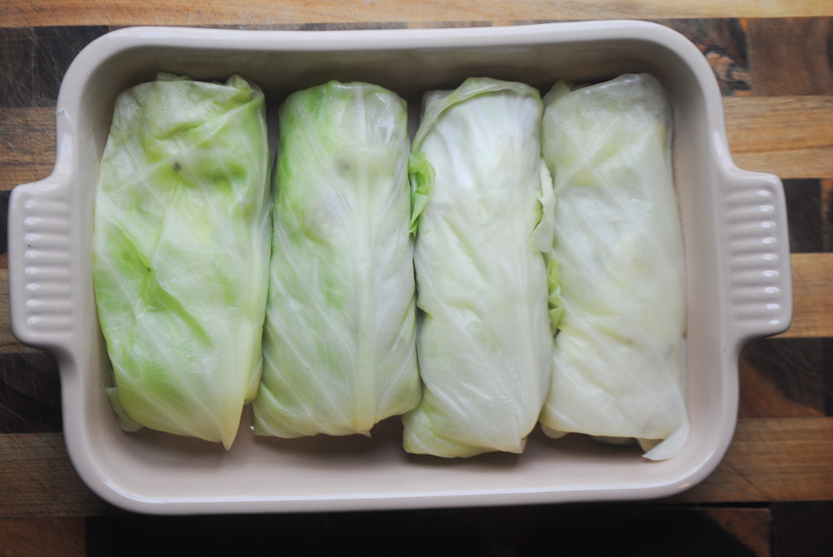 cabbage rolls with lamb