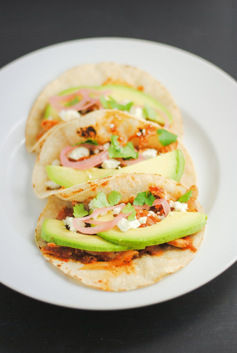 Chicken tacos with all the trimmigs
