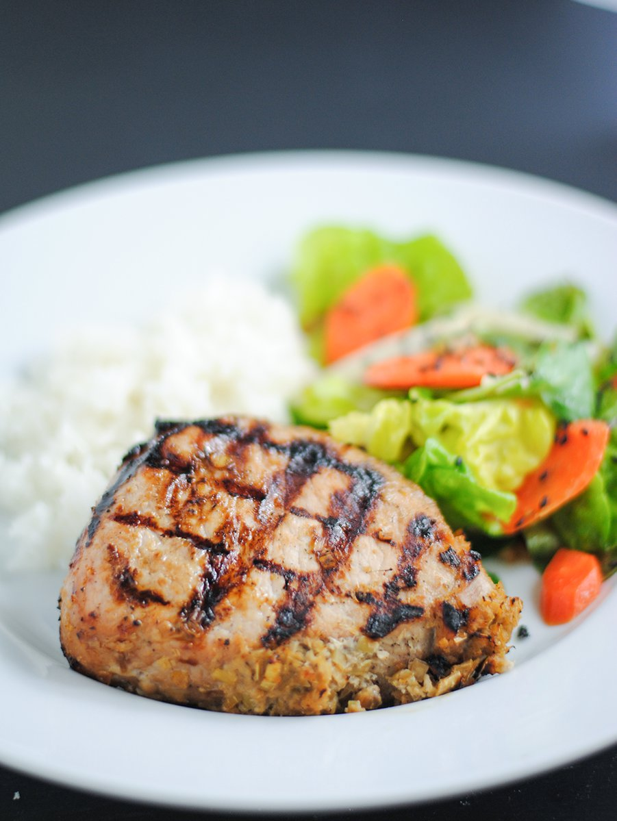 Vietnamese lemongrass pork chops