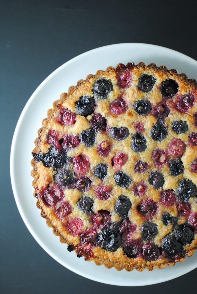 Brown butter cherry tart
