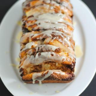 Glazed brown sugar cinnamon pull-apart bread