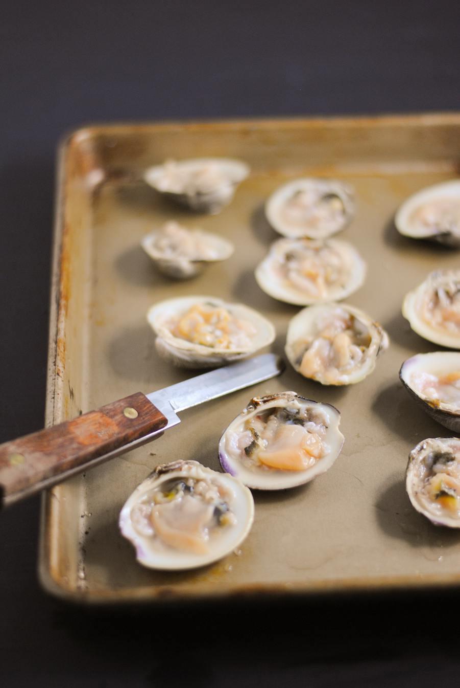 shucked clams