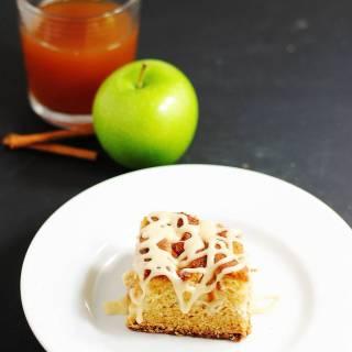 Glazed apple cider cake