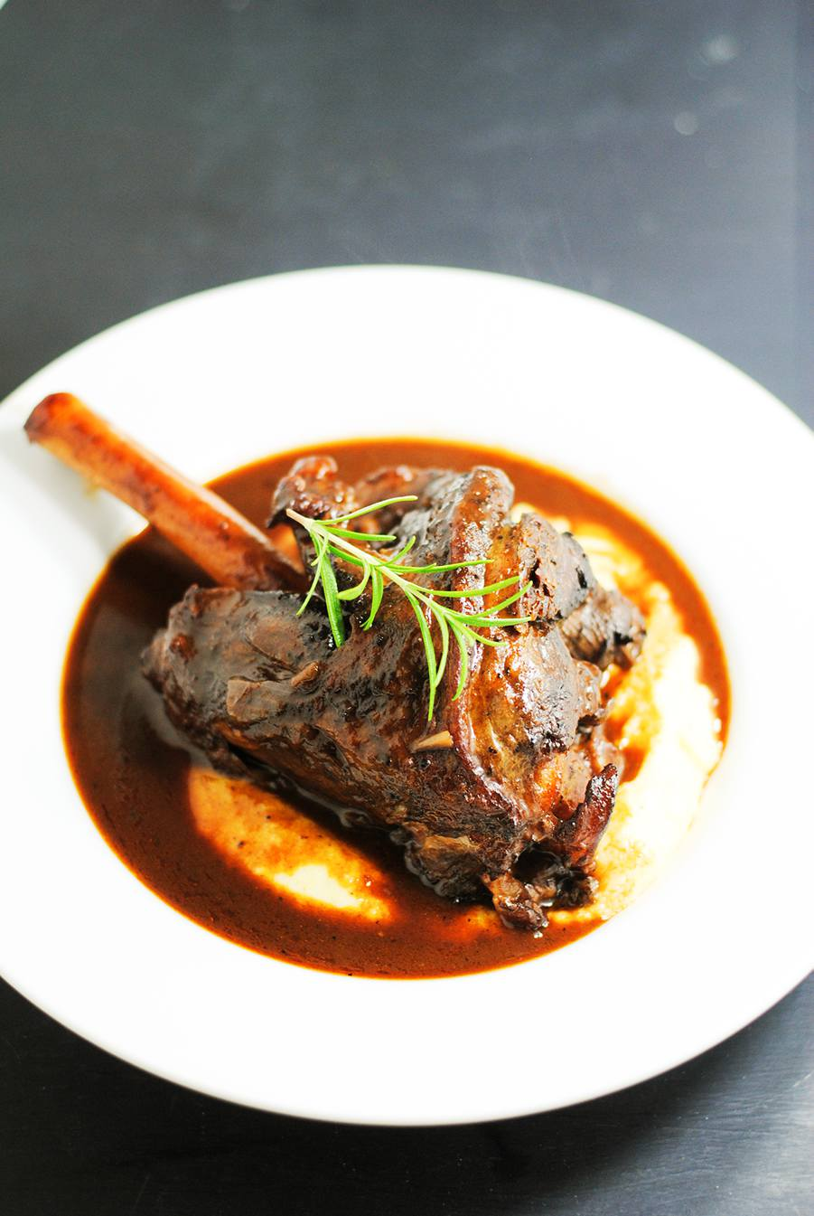 braised lamb shanks with polenta