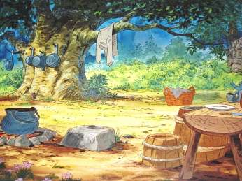 Robin Hood 1973 Backgrounds in Murder At Malone Manor inspiration post by Matt McDyre