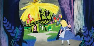Concepts from Alice in Wonderland by Mary Blair - in Murder At Malone Manor inspiration post by Matt McDyre