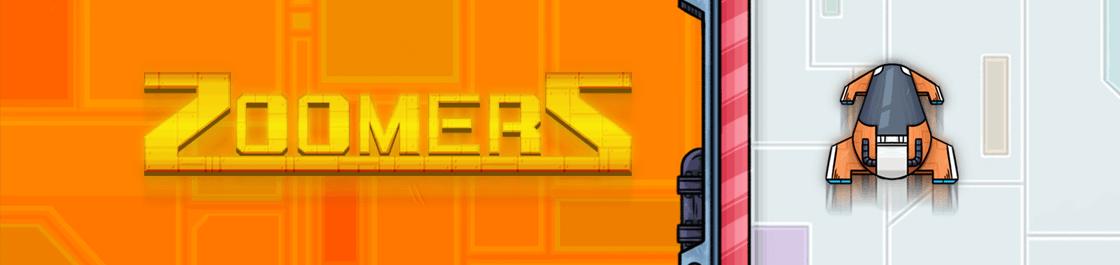 Zoomerz - screenshot of our HTML5 Pixi.JS Phaser.JS endless runner web game