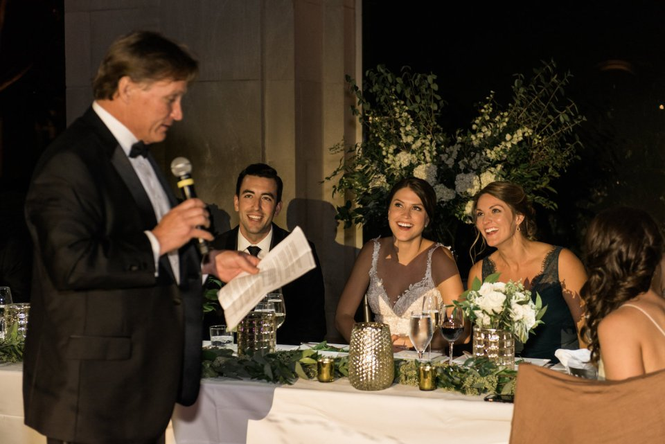 Father of the bride giving a wedding toast