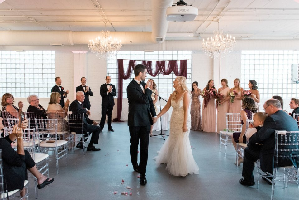 Wedding ceremony at Room 1520 in Chicago IL