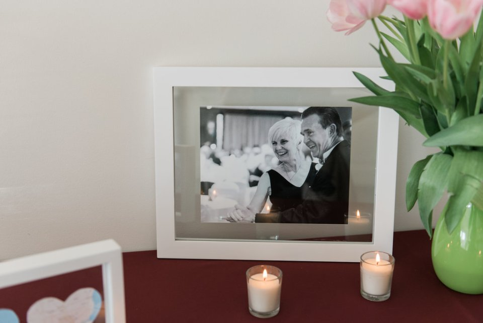 Photo of the groom's parents at Room 1520 in Chicago