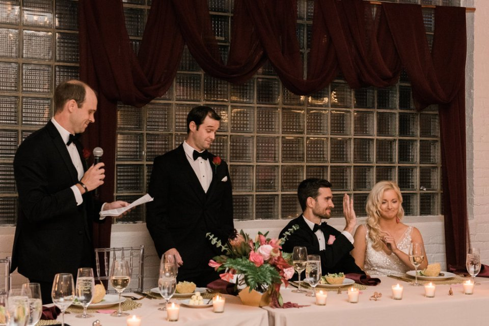 Best Man toasts at Room 1520