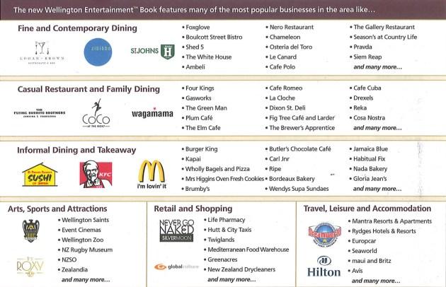 Entertainment Book businesses