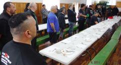 Thanking the Hau Kainga - cooks and whanau
