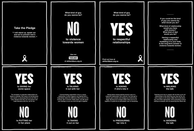 white ribbon Brochure 2016 fourfold