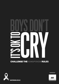 White Ribbon 2019 Poster A3 Boys Don't Cry 72dpi