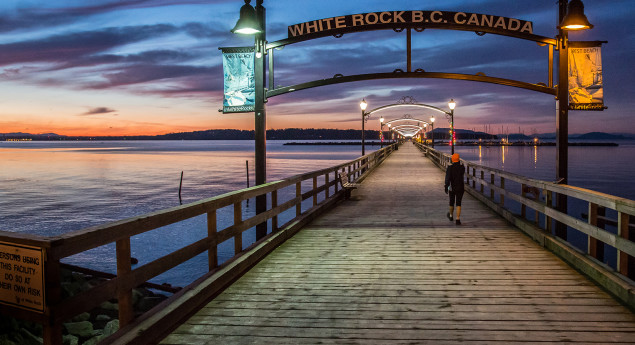 White Rock pier summer night
