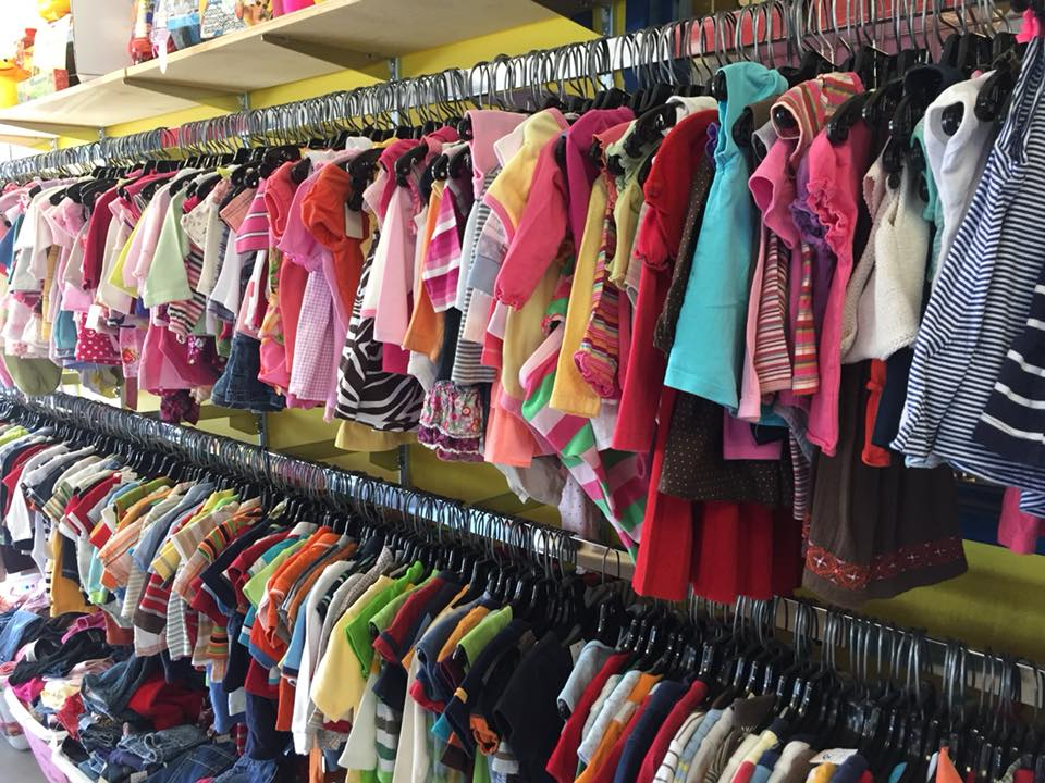 Buckets of Fun Children's clothing and toy consignment thrift store back to school shopping