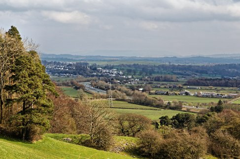 View towards A590 and Levens