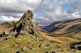 Helm Crag looking towards Dunmail Raise