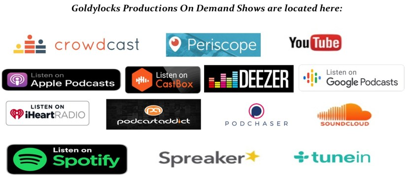 Archived On Demand Locations for our Shows