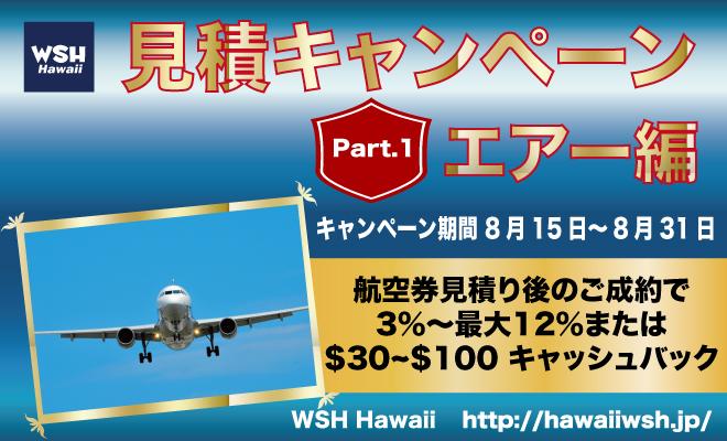 WSH Haawaii-見積キャンペーン№1-エアー
