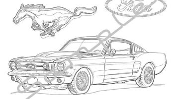 Mustang Gt Car Clipart Png - Mustang Gt Coloring Pages ... | 200x350