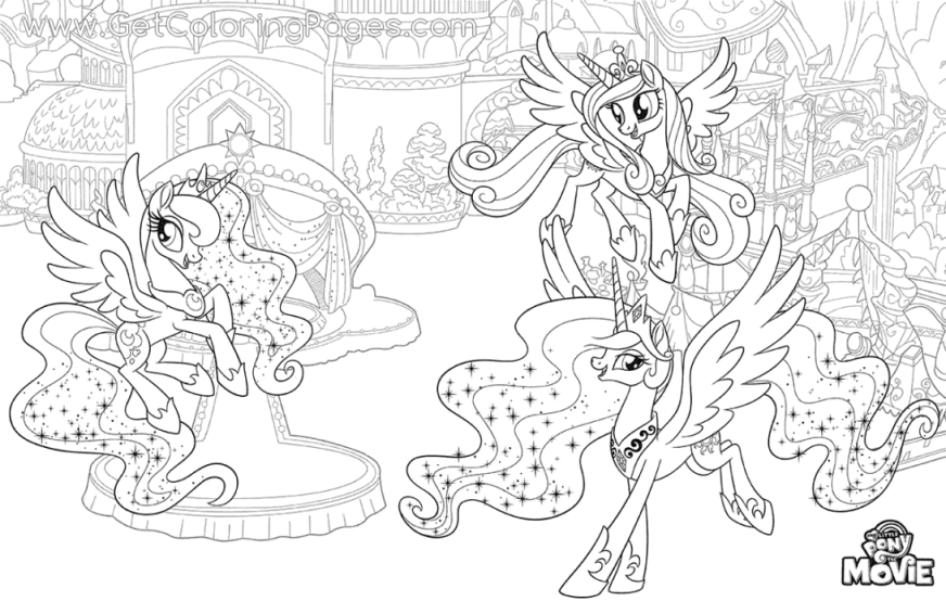 39 most cool princess pony coloring pages my little the