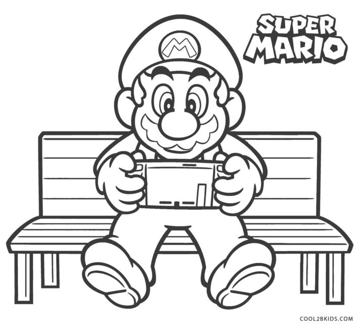 44 most fabulous super mario bros coloring pages castle art