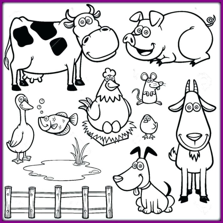 54 most marvelous printable farm animals coloring pages