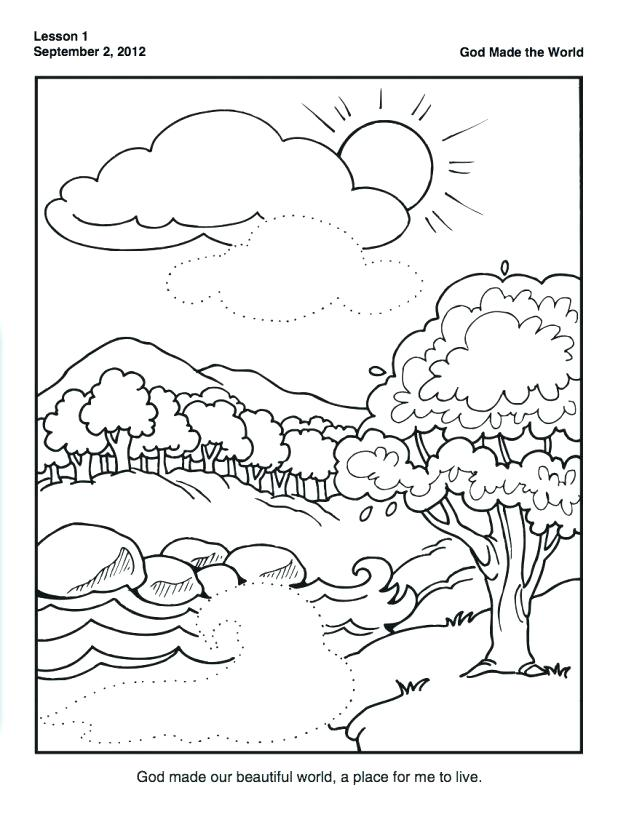 7 days of creation coloring pages free at getdrawings