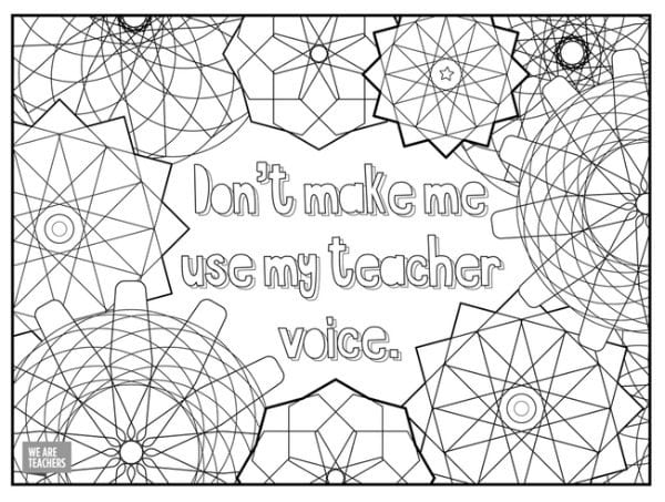 8 free adult coloring pages for stressed out teachers