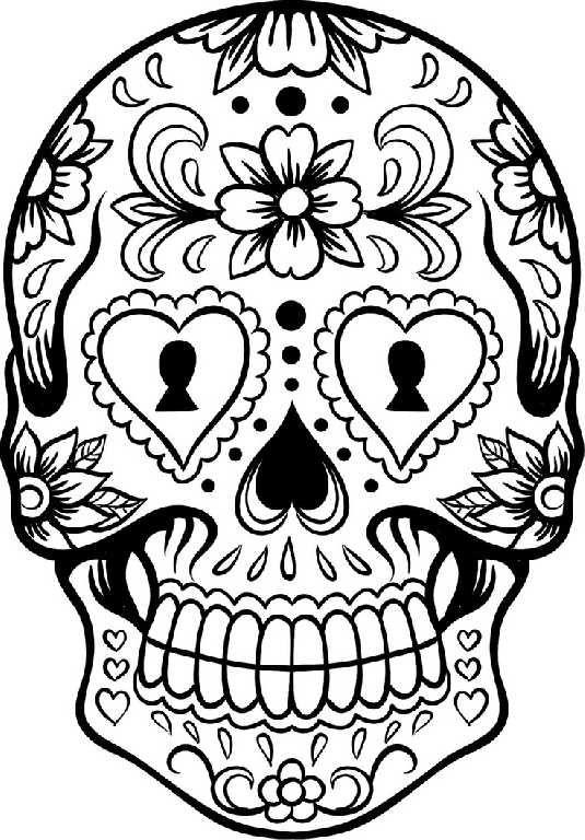 914 sugar skull free clipart 7